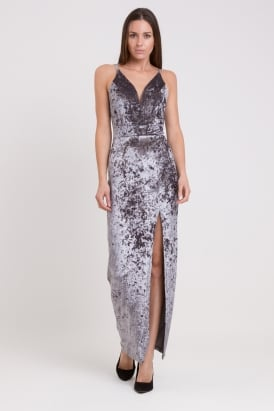 WalG Crushed Velvet Maxi Dress