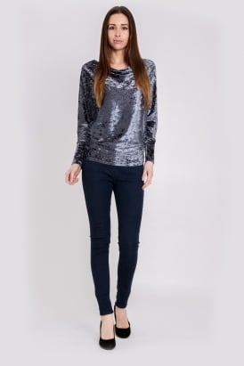 WalG Crushed Velvet SIouchy Top