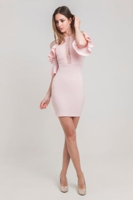 c0b7236cc5a WalG Cut Out Ruffle Lace Dress