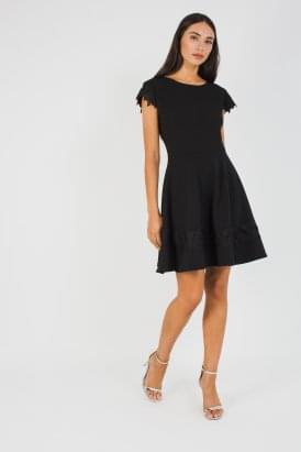 16d34ab3720 WalG Lace Trim Skater Dress
