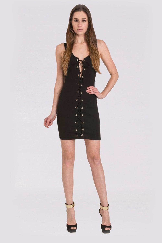 ad38e4ed61 WALG LACE UP MINI DRESS | WALG DRESSES