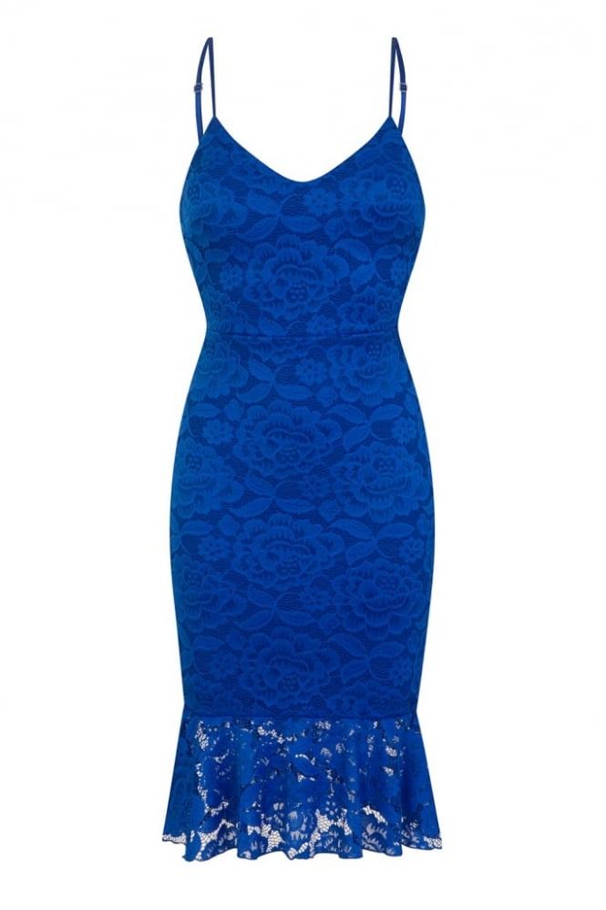 WalG Scuba Lace Midi Dress