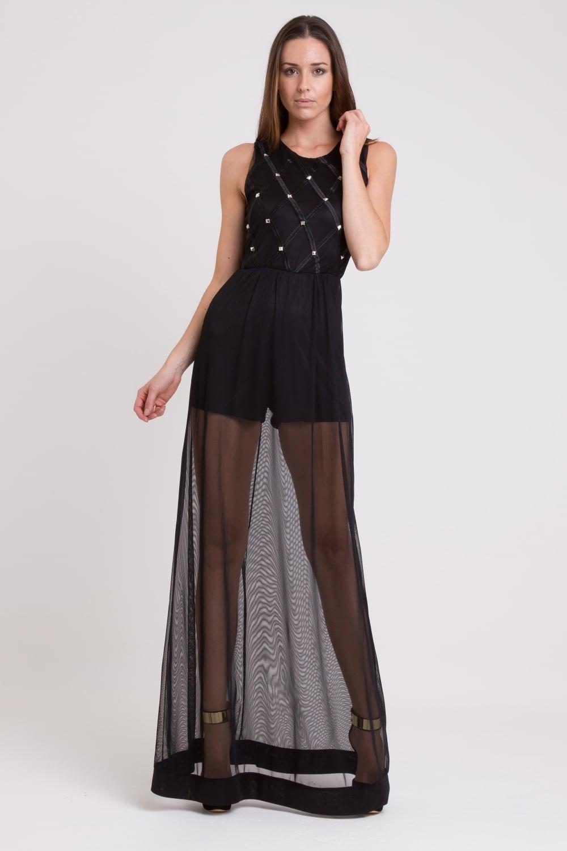 0a06867c683e WalG Studded Maxi Dress