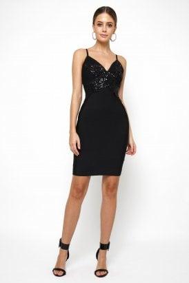 90571ee8b4 WalG V Neck Sequin Dress